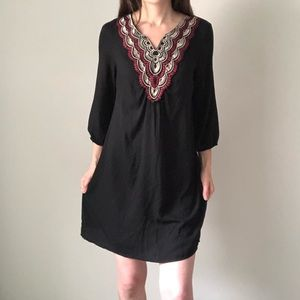 Lily Rose Tribal Print Neckline Shift Dress I